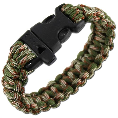 Highlander браслет Paracord Bracelet with Whistle Camo