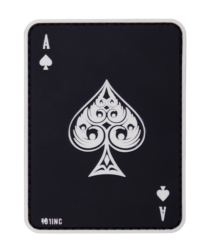 101 INC Патч Ace of Spades 3D PVC Black