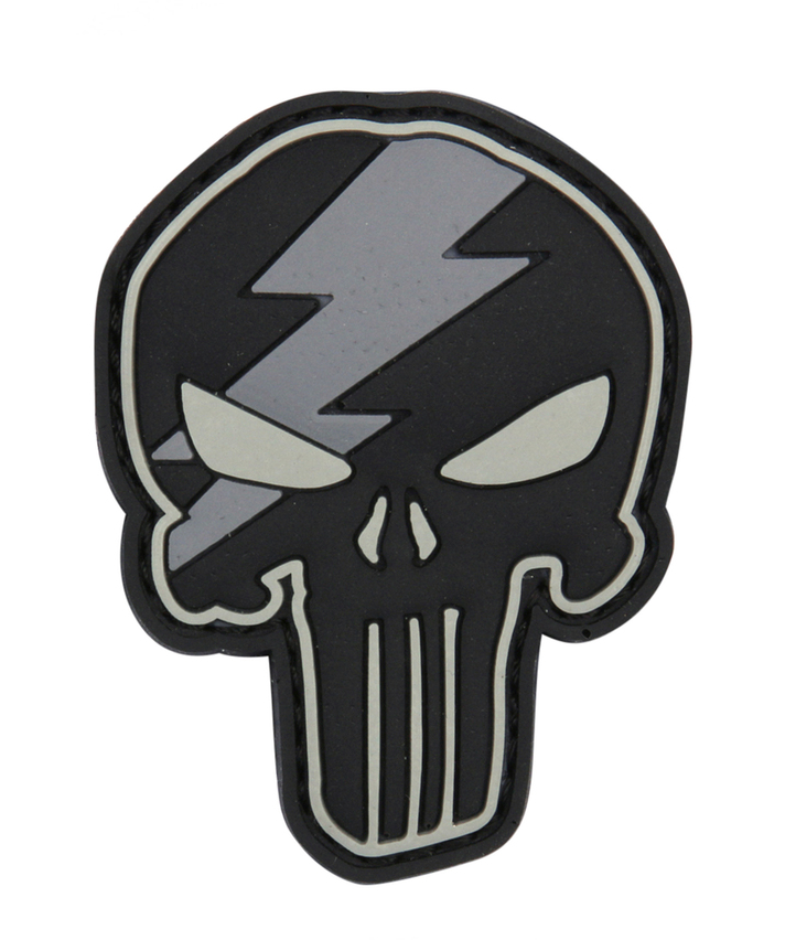 101 INC Punisher Thunder 3D PVC Патч Black/Grey