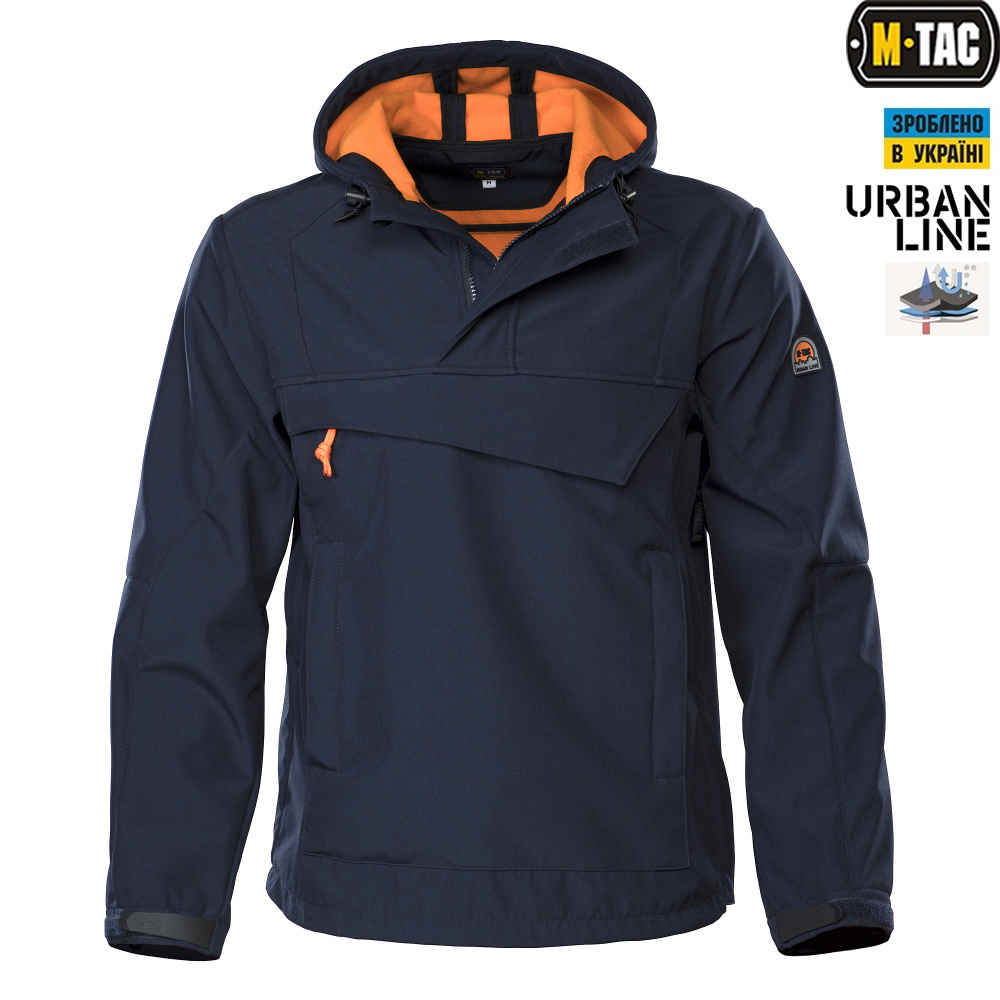 M-Tac анорак Soft Shell Navy/Orange