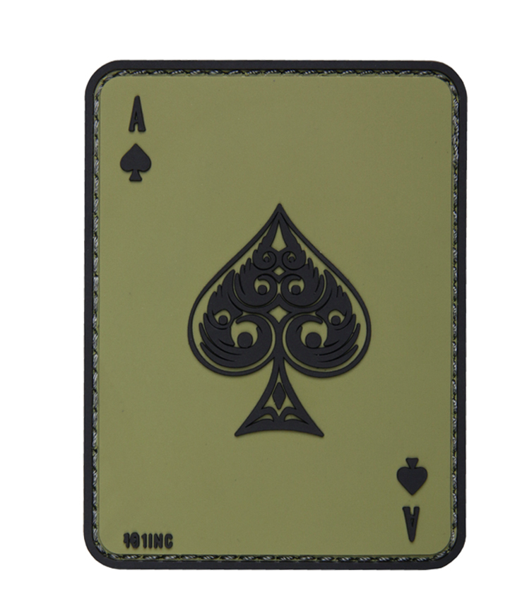 101 INC Патч Ace of Spades 3D PVC Green