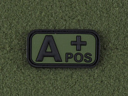 JTG A Pos Blood Type Patch Forest