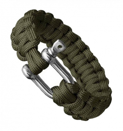 Highlander Paracord Bracelet with Shackle Olive