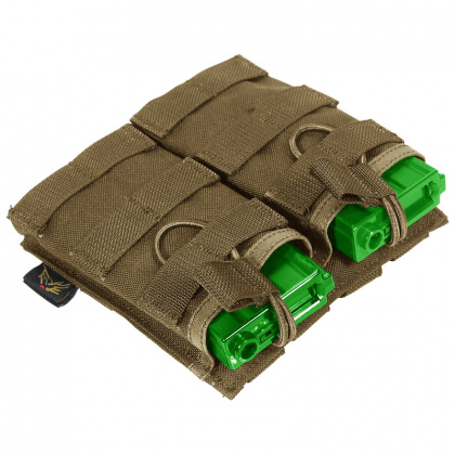 Flyye MOLLE EV Universal Double Mag Pouch CB