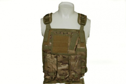 RT Tactical Plate Vest with pouches - MC ( molle hydration system not included)