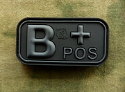 JTG B Pos Blood Type Patch BlacOps