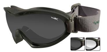 Wiley X очки-маска Nerve Smoke/Clear Lens/Foliage Green Frame