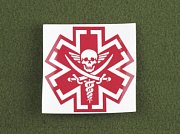 MSM TacMed Pirate Decal Red
