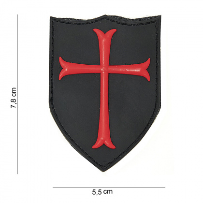 China made Crusader 3D PVC Patch