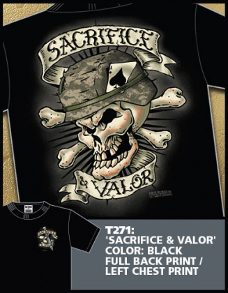 7,62 футболка Sacrifice & Valor черная все разм.