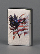 ZIPPO зажигалка patriotic vision brushed chrome1