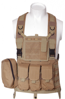 RT Tactical Chest Rig with pouches - Coyote Tan