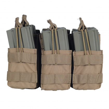 Condor Triple Stacker Open-Top M4 Mag Pouch Tan