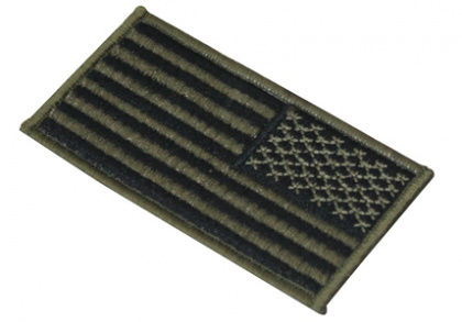 CA America Flag Patch Right OD Green