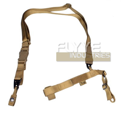 Flyye Tactical Three Point Sling Khaki