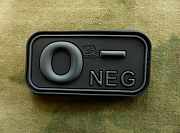 JTG O Neg Blood Type Patch BlacOps
