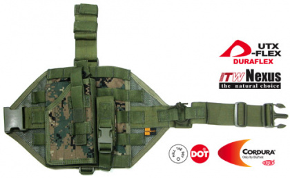 Guarder MOD Tactical Thigh Кобура Digital Woodland