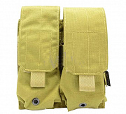 Flyye MOLLE Double M4/M16 Mag Pouch Khaki