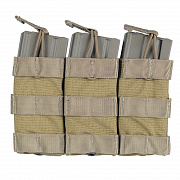 Emerson Modular Triple Open Top Magazine Pouch Khaki