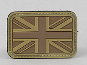 James Weekend Warrior UK Flag PVC Velcro Patch TAN