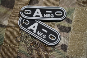 JTG A Neg Blood Type Dog Tags SWAT