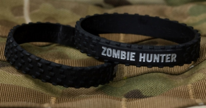 MSM Zombie Hunter Band Black-SilverText все разм.