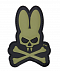 101 INC Skull Bunny 3D PVC Patch Black/Green
