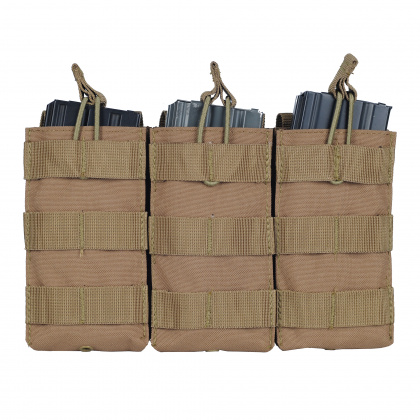 Condor Triple Open-Top M4 Mag Pouch Tan