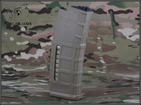 China made PMAG-style Magazine for Marui M4 (80 rds) FDE