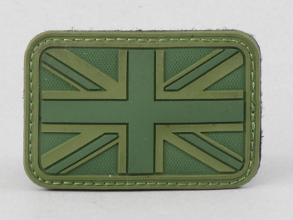 James Weekend Warrior UK Flag PVC Velcro Patch OD
