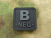 JTG B Neg Blood Type Square Patch BlackOps