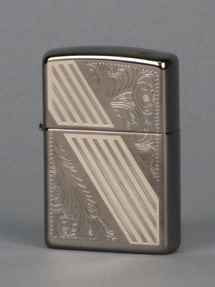 ZIPPO зажигалка venethian stripe black ice