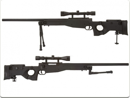 China made MB08D Spring Rifle BK (with scope & bipod)