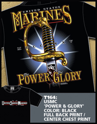 7,62 футболка USMC Power & Glory черная все разм.