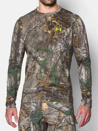 Under Armour футболка длинный рукав Tech Scent Control Realtree