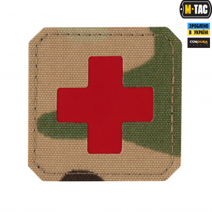 M-Tac нашивка Medic Cross Laser Cut Red/Multicam
