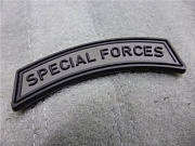 JTG Special Forces Tab Patch Battle Grey