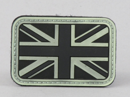 James Weekend Warrior UK Flag PVC Velcro Patch Night Glow