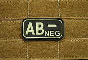 JTG AB Neg Blood Type Patch Ghost GID