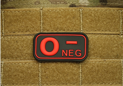 JTG O Neg Blood Type Patch BlackMedic