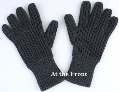 AT Gray Wool Knit Gloves