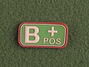 JTG B Pos Blood Type Patch Multicam