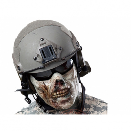 China made Airsoft Mask Zombie Half Face Red