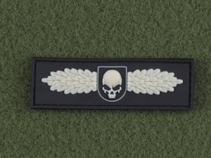 JTG SOF Skull Badge Patch Ghost GID