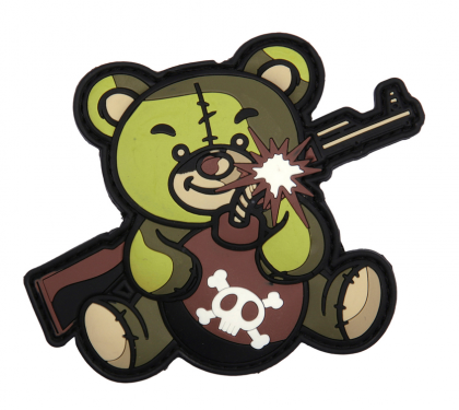 101 INC Terror Teddy 3D PVC Patch Green