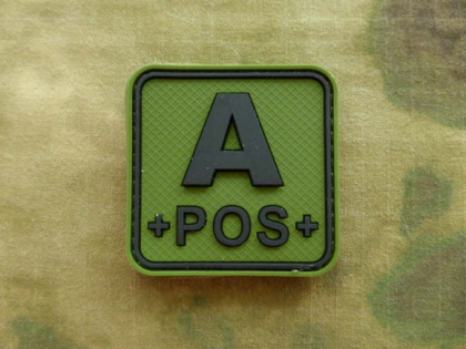 JTG A Pos Blood Type Square Patch Forest