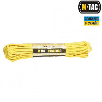 M-Tac паракорд 550 type III Yellow 30м