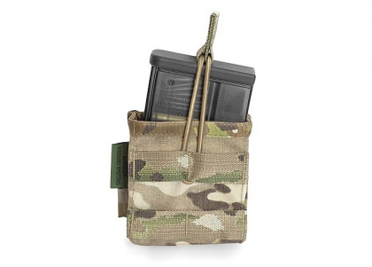 WAS Single MOLLE Open HK417 Pouch Multicam