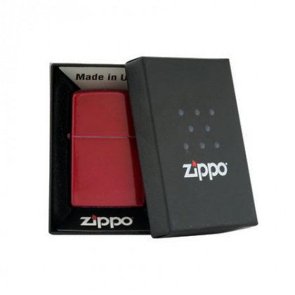 ZIPPO зажигалка reg candy apple red mt lt