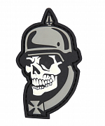 101 INC WWI Skull 3D Patch Black/Grey
